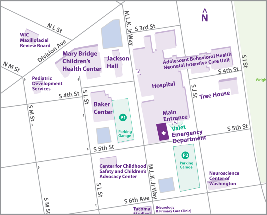 Mary Bridge Campus Map
