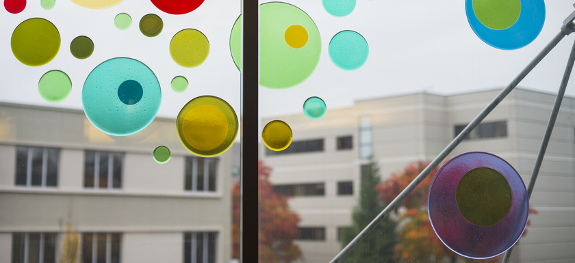 Window Colored Circles